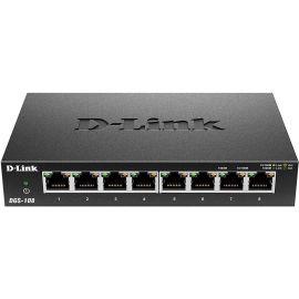 D-Link DGS-108 Switch 8 Ports Gigabit Metallique 10/100/1000mbps - Idéal Partage de Connexion et Mise en Réseau Small/Home
