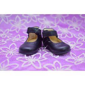 Chaussure cuir bleu nuit pointure 18 pour enfant