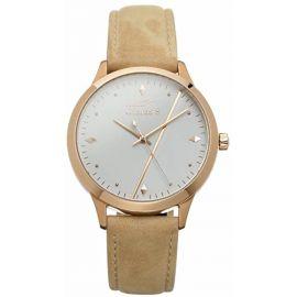 Guarda S New Classic Montre bracelet Femme Bright Rosé à quartz analogique en cuir de velours beige – gs000 C de c17d