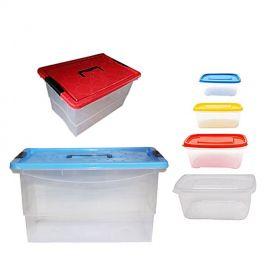 Tajplast Kit Boite De Rangement - 6 Boites (23L / 14L / 3L / 1,75L / 1L / 0,5L) - Multicolore