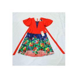 Robe Rouge Fleurie