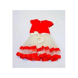 Robe Rouge Blanc avec Barette