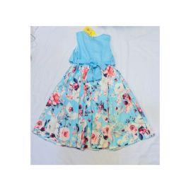 Robe Fleurie Bleu Ciel