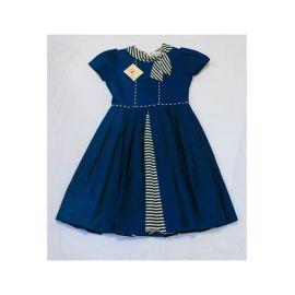 Robe Bleu avec Nœud Blanc-Noir