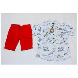 Ensemble Chemise Blanche Adidas + culotte rouge
