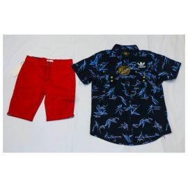 Ensemble Chemise Adidas bleu + culotte rouge