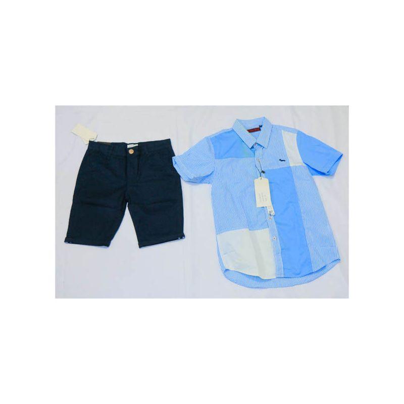 Ensemble Chemise bleu ciel + culotte bleu