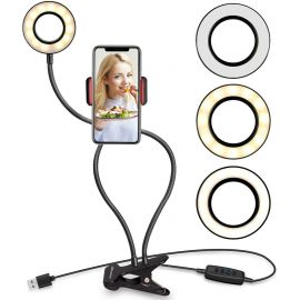 Selfie Ring Light avec support de téléphone portable