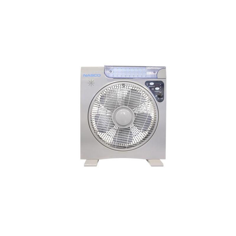NASCO VENTILATEUR RECHARGEABLE ECLAIRAGE LED – VENT_CE-12V12B