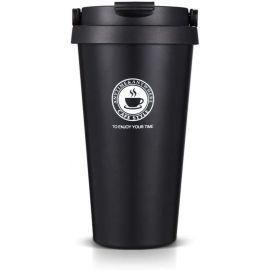 Tasse à café en Acier Inoxydable de qualité Alimentaire avec Couvercle