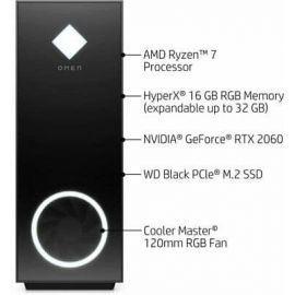 UC GAMER OMEN 30L GT13-0024 Desktop PC AMD RYZEN 7 3700X  16Go RAM 256Go SSD + 1To HDD