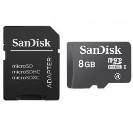 SANDISK CARTE MÉMOIRE MICROSDHC 8 GIGA ET ADAPTATEUR SD – SDSDQM-008G-B35A