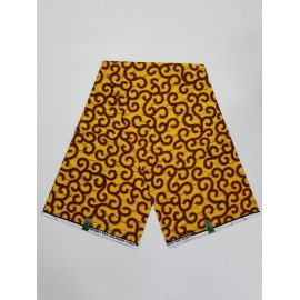 Complet Pagne Wäx Pain chaud - 6 Yards -jaune