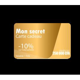 """Carte cadeau """" MON SECRET"""""""