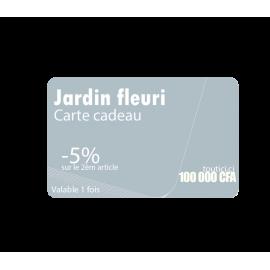 """Carte cadeau """" JARDIN FLEURI """""""